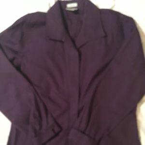 Chico's purple non iron blouse size 1